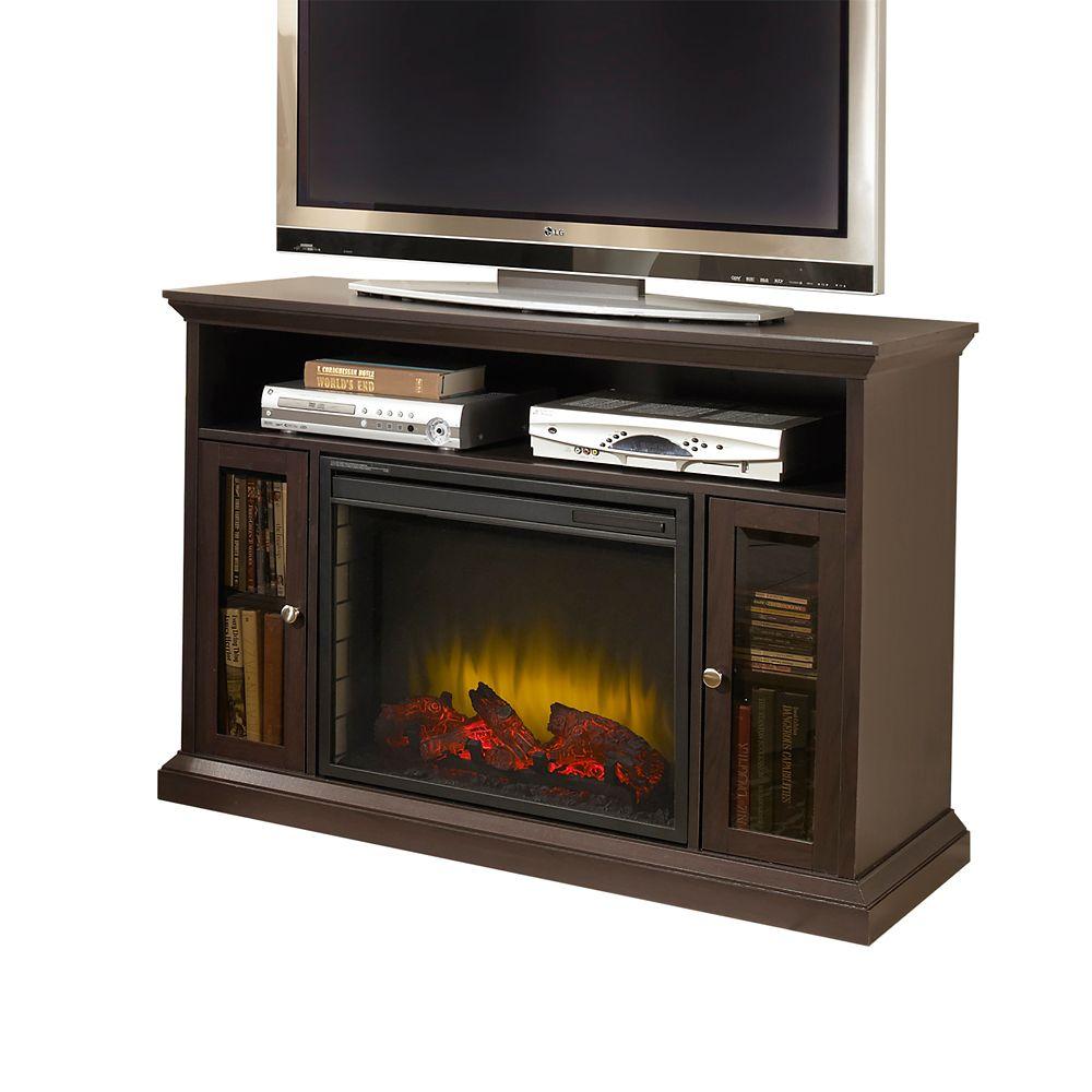 Riley Media Fireplace - Espresso Finish