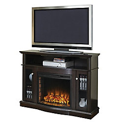 Pleasant Hearth Elliott 47-inch Media Electric Fireplace in Merlot