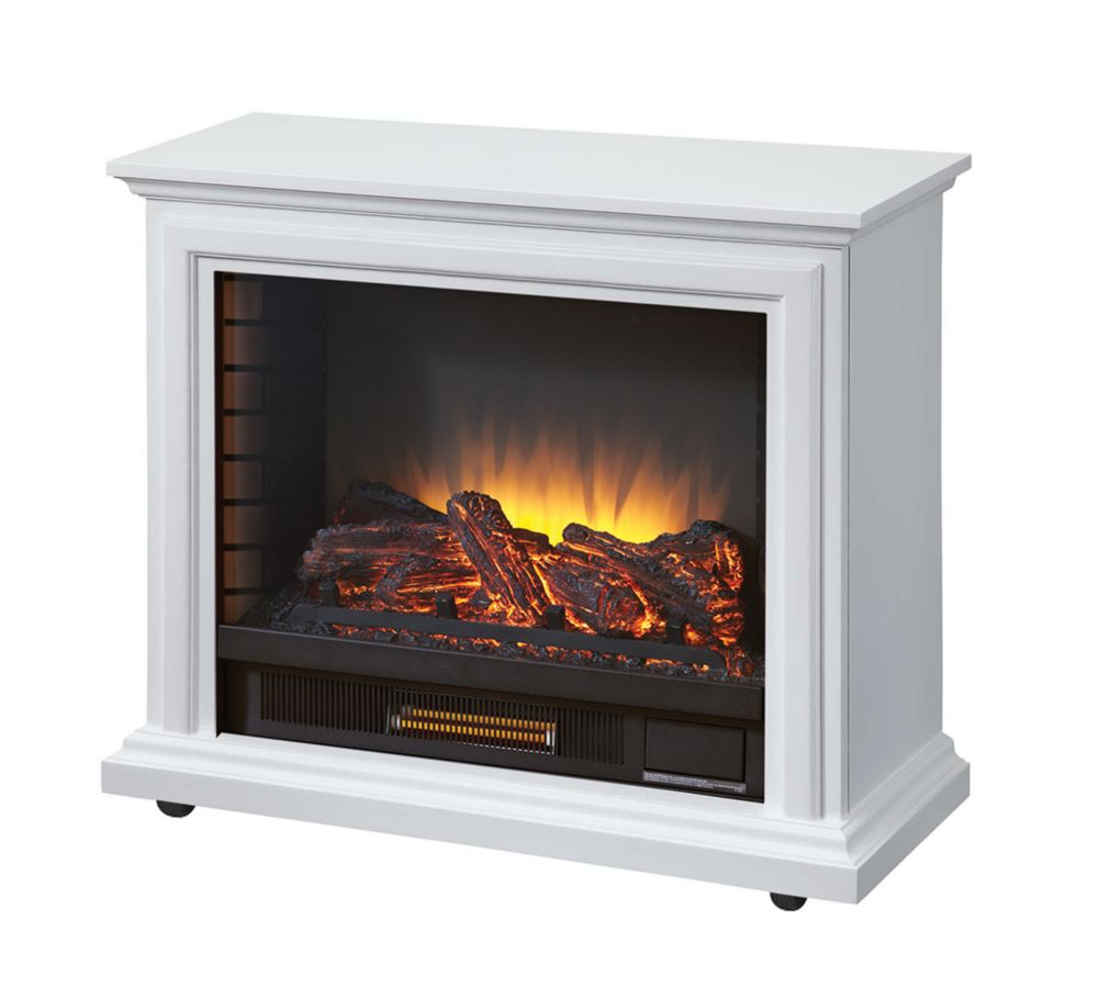 Sheridan Mobile Fireplace - White