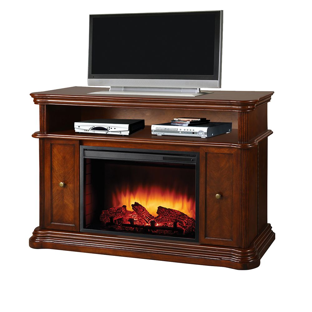 Electric Fireplace With 26 Inch Widescreen Insert Burnished Walnut Gmtvs2689sbwl 1 Canada