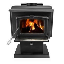 Pleasant Hearth 1,200 sq. ft. EPA Certified Wood-Burning Stove with Small Blower