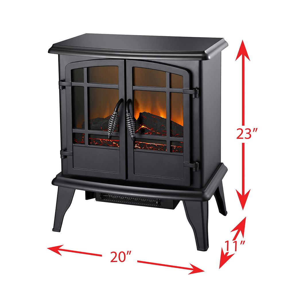 20 Inch Electric Stove, Matte Black