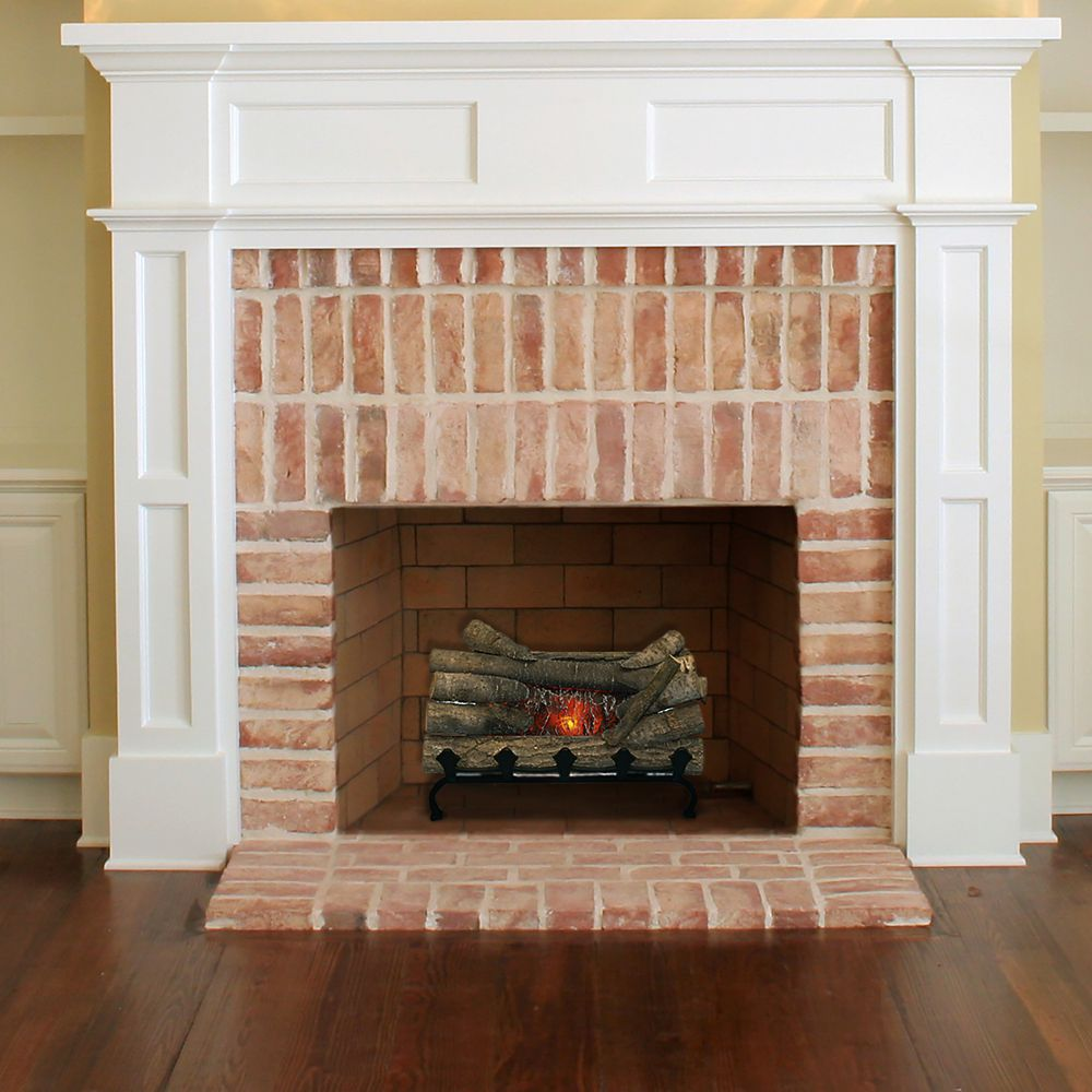 Pleasant Hearth Electric Crackling Log with Grate