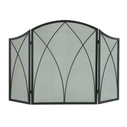 Pleasant Hearth Arched 3-Panel Fireplace Screen