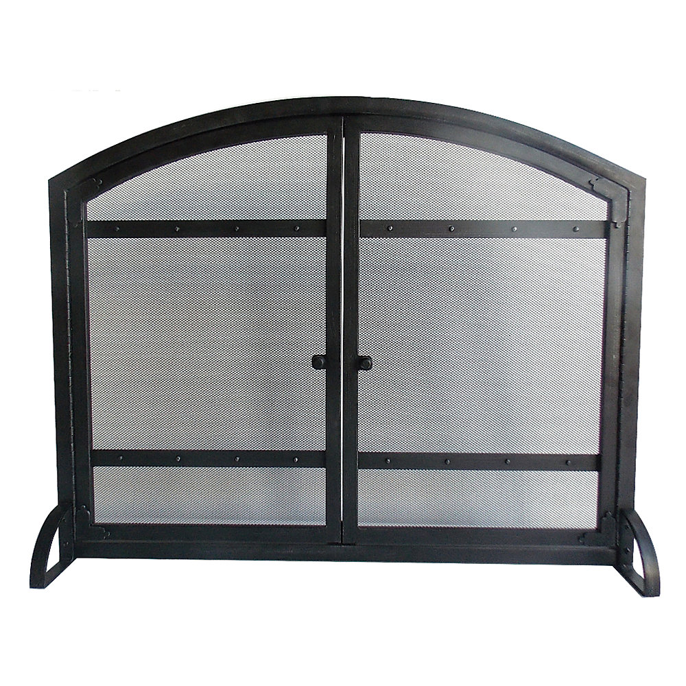 Pleasant Hearth Harper Fireplace Screen The Home Depot Canada