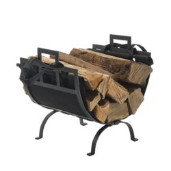 Pleasant Hearth Log Holder/Canvas Tote