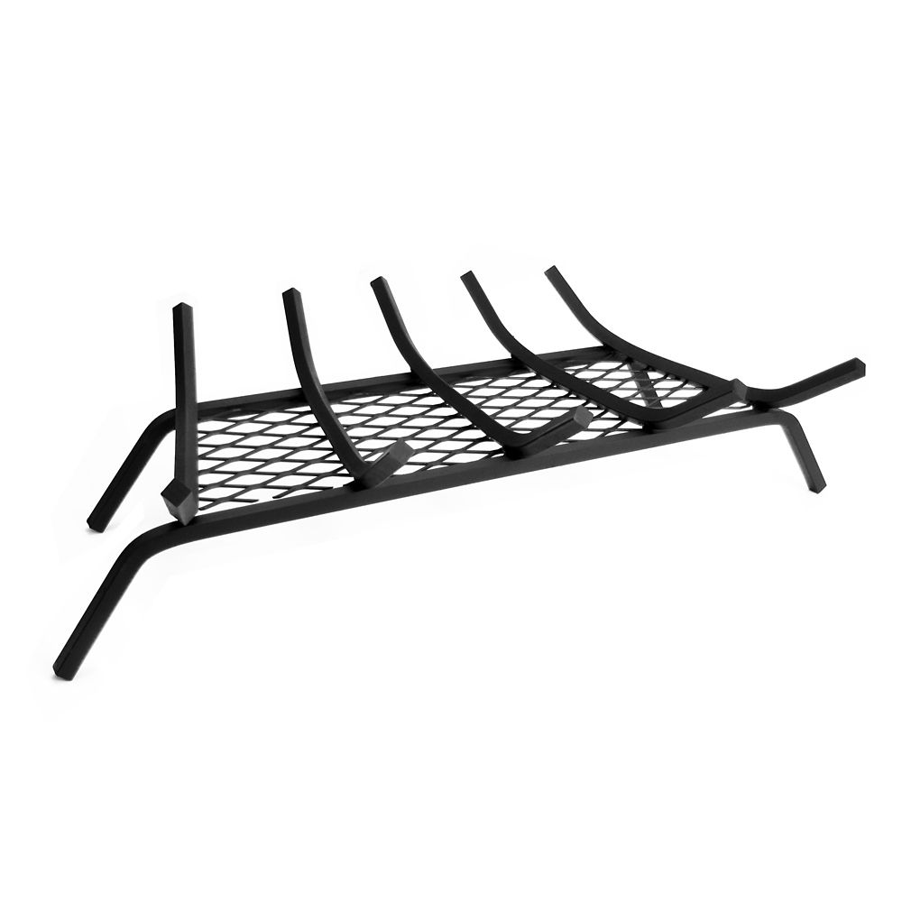 Pleasant Hearth 1/2-inch 27-inch 5-Bar Steel Grate with Ember Retainer