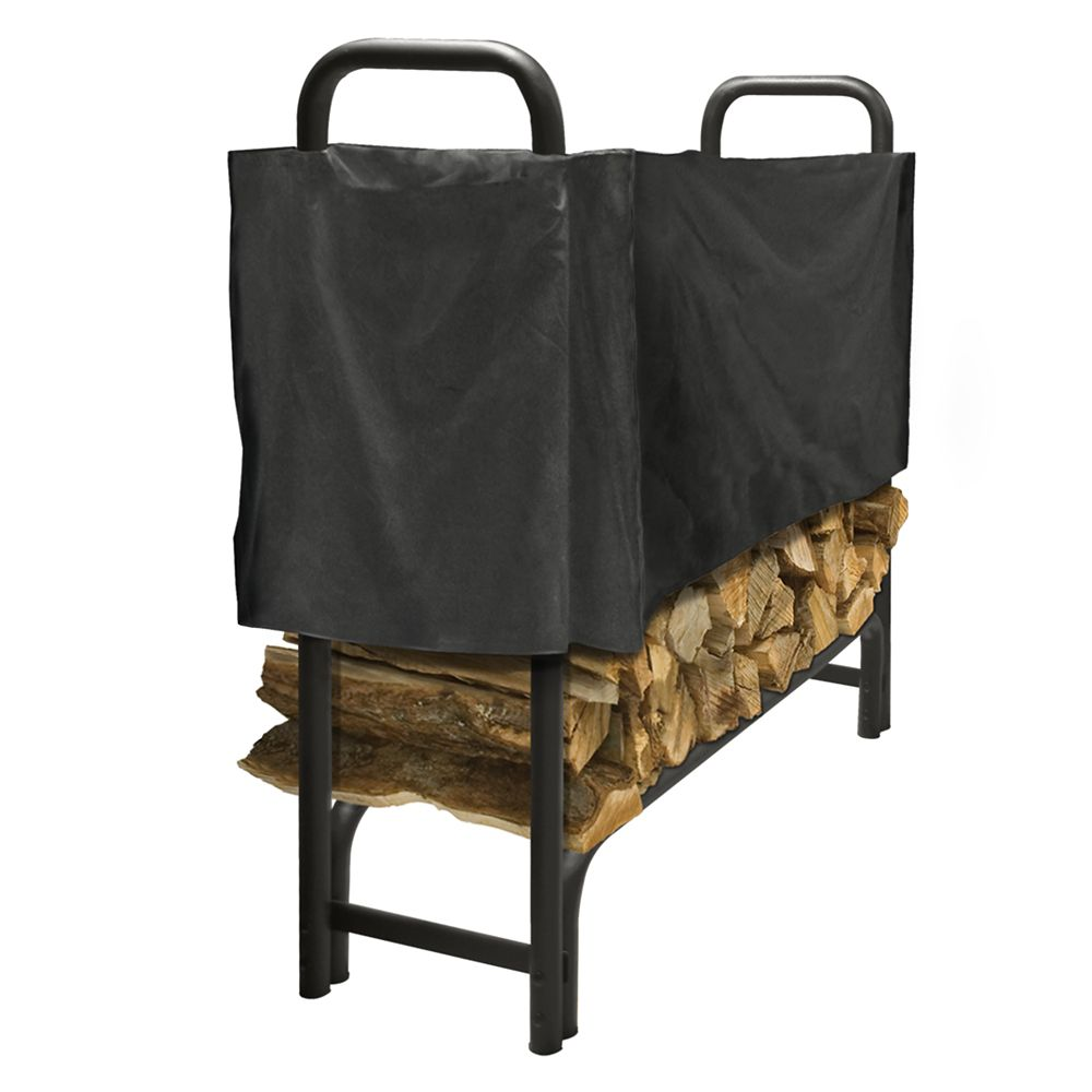 pleasant hearth 4ft half log rack cover the home depot canada. Black Bedroom Furniture Sets. Home Design Ideas