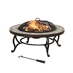 Elizabeth 34-inch Round Slate Fire Pit