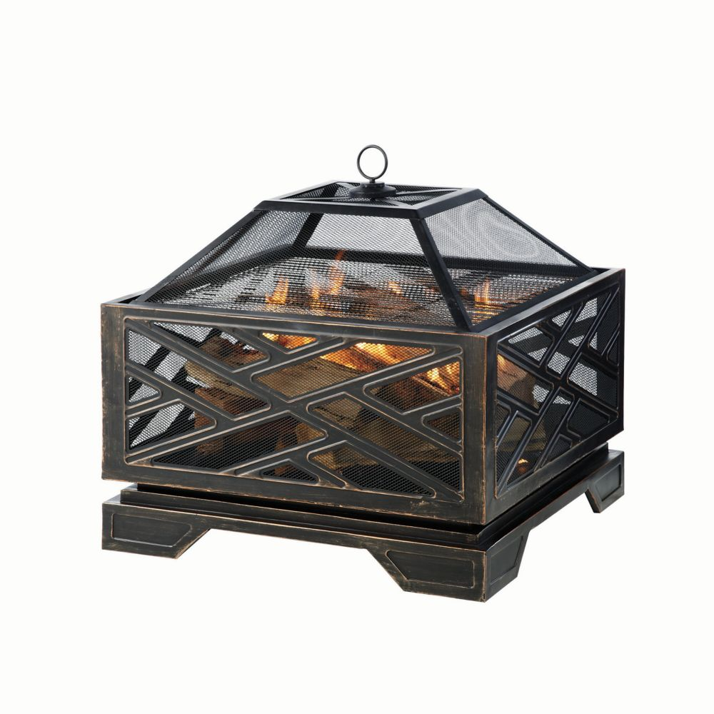 Pleasant Hearth Martin 26-inch Outdoor Fire Pit in Oil-Rubbed Bronze