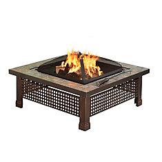 Bradford 34-inch Outdoor Fire Pit in Slate