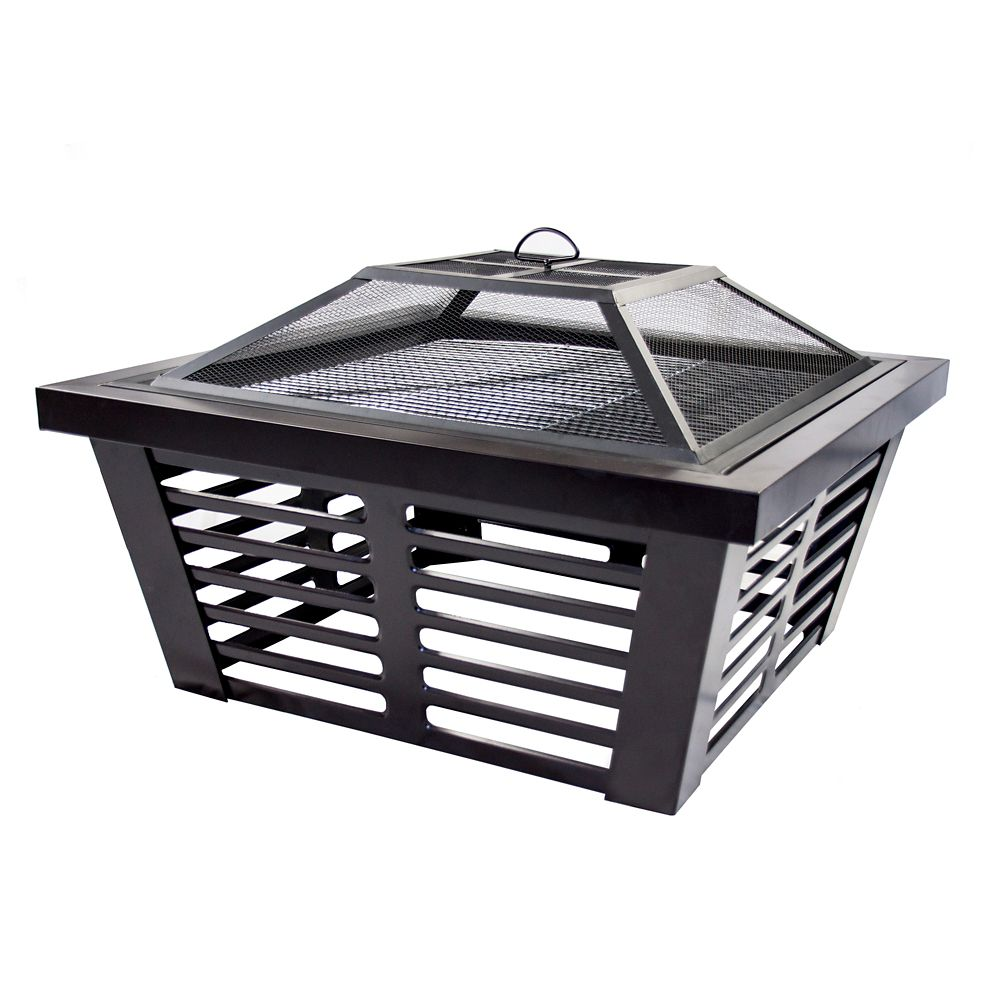 34-inch Hudson Steel Wood Burning Outdoor Fire Pit