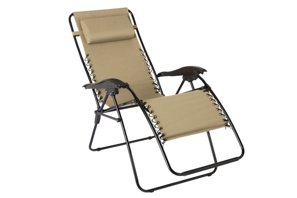 Unbranded multi position zero gravity chaise in beige for Chaise zero gravite