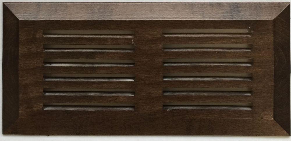 """Grille de Ventillation Surface Érable Noyer 4""""X 10"""""""