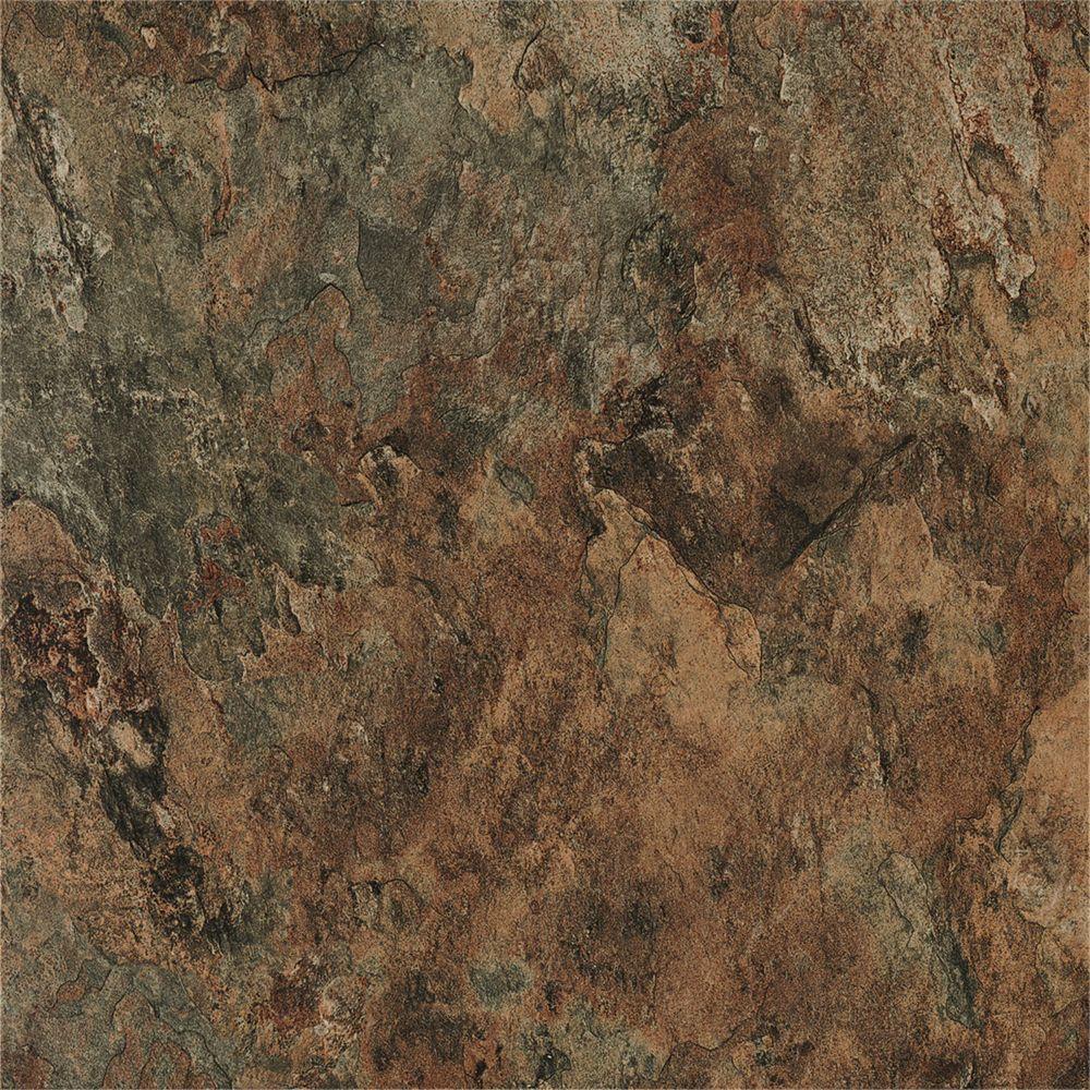 12-inch x 12-inch Morocco Slate Peel and Stick Vinyl Tile Flooring (30 sq.ft. / case)