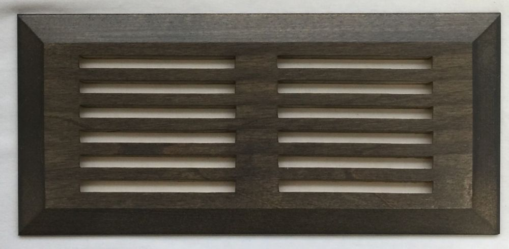 "Grille de Ventillation Surface Merisier Misty Grey 4""X 10"""