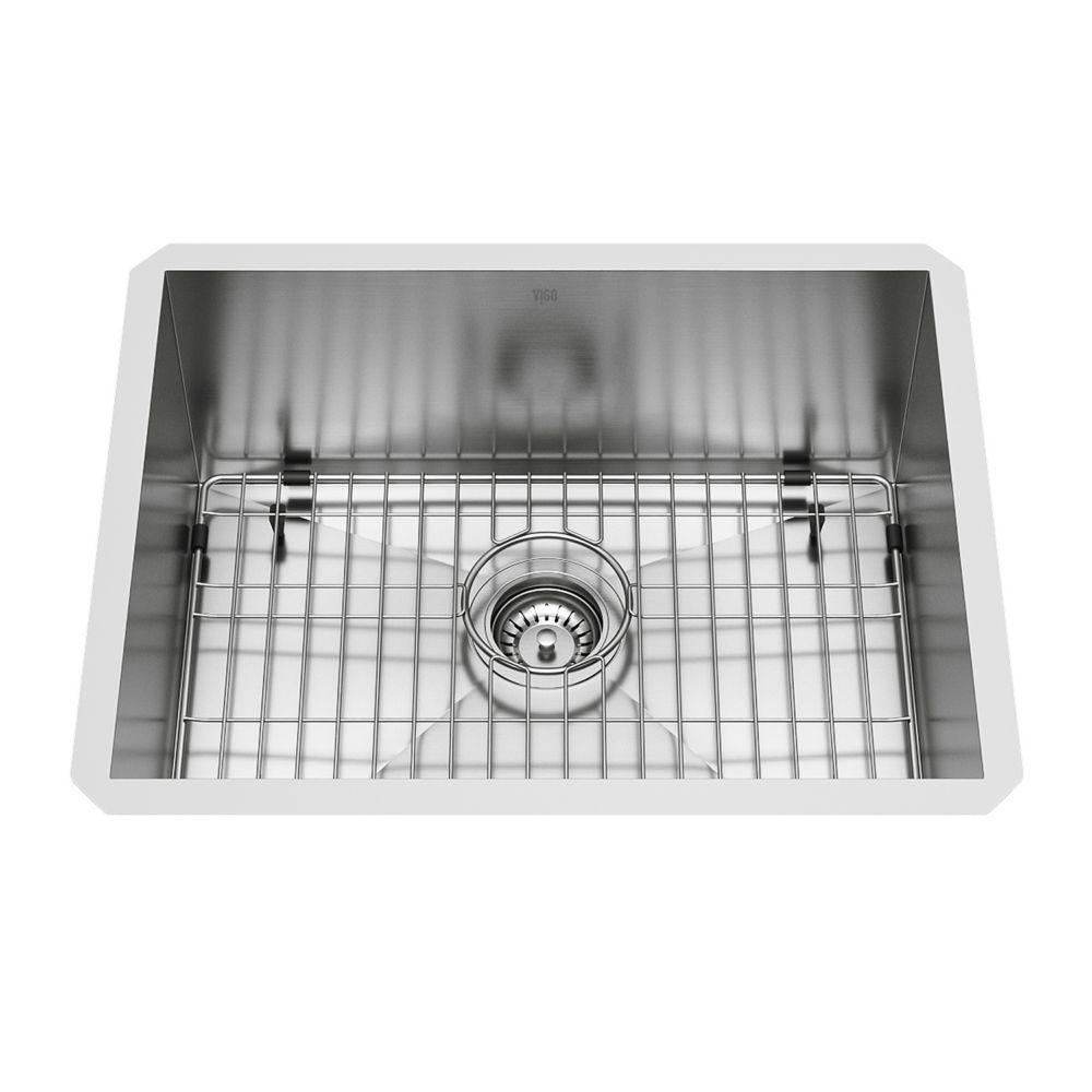Stainless Steel Undermount Single Bowl Kitchen Sink 16 gauge 23 Inch VG2318CK1 Canada Discount