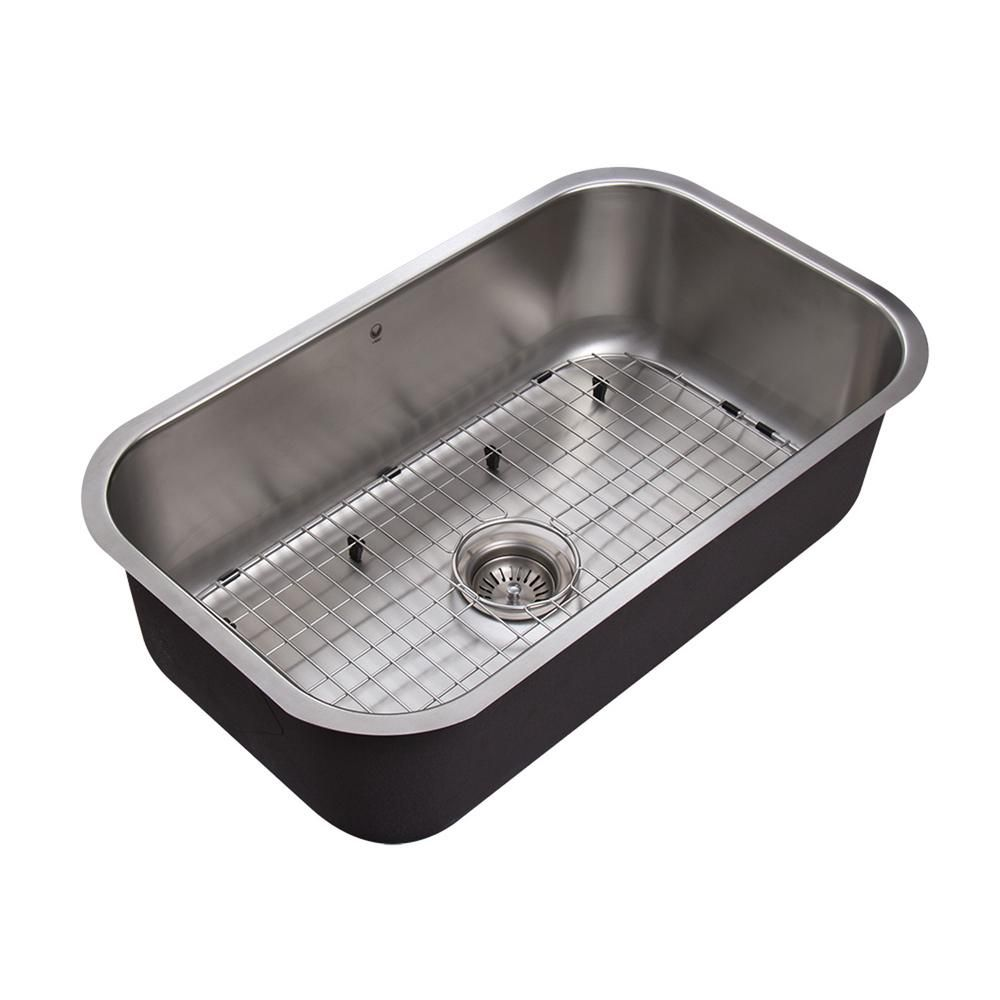 Stainless Steel Undermount 18 Gauge Single Bowl Kitchen Sink 18 gauge 30 Inch VG3019C in Canada