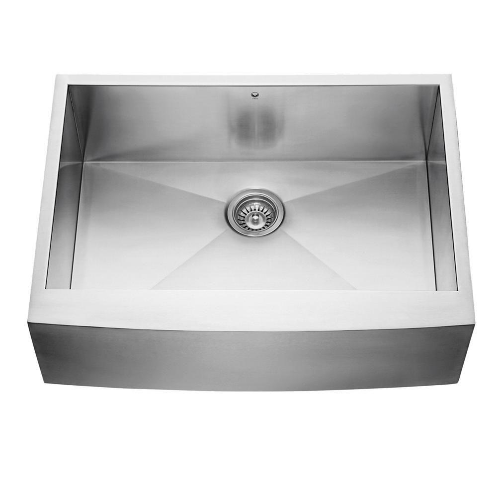 Stainless Steel Farmhouse 16 Gauge Single Bowl Kitchen Sink 16 gauge 30 Inch