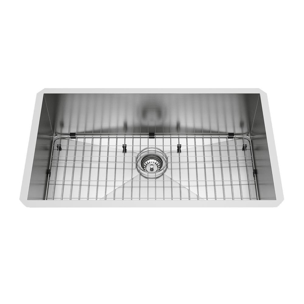Stainless Steel Undermount Kitchen Sink Grid and Strainer 16 gauge 32 Inch