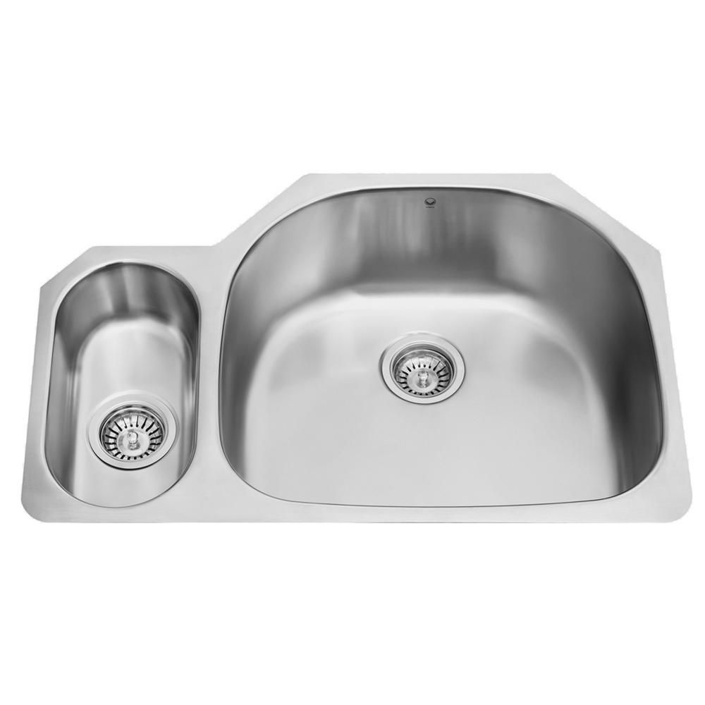 Stainless Steel Undermount 18 Gauge Double Bowl Kitchen Sink 18 gauge 32 Inch VG3321R in Canada