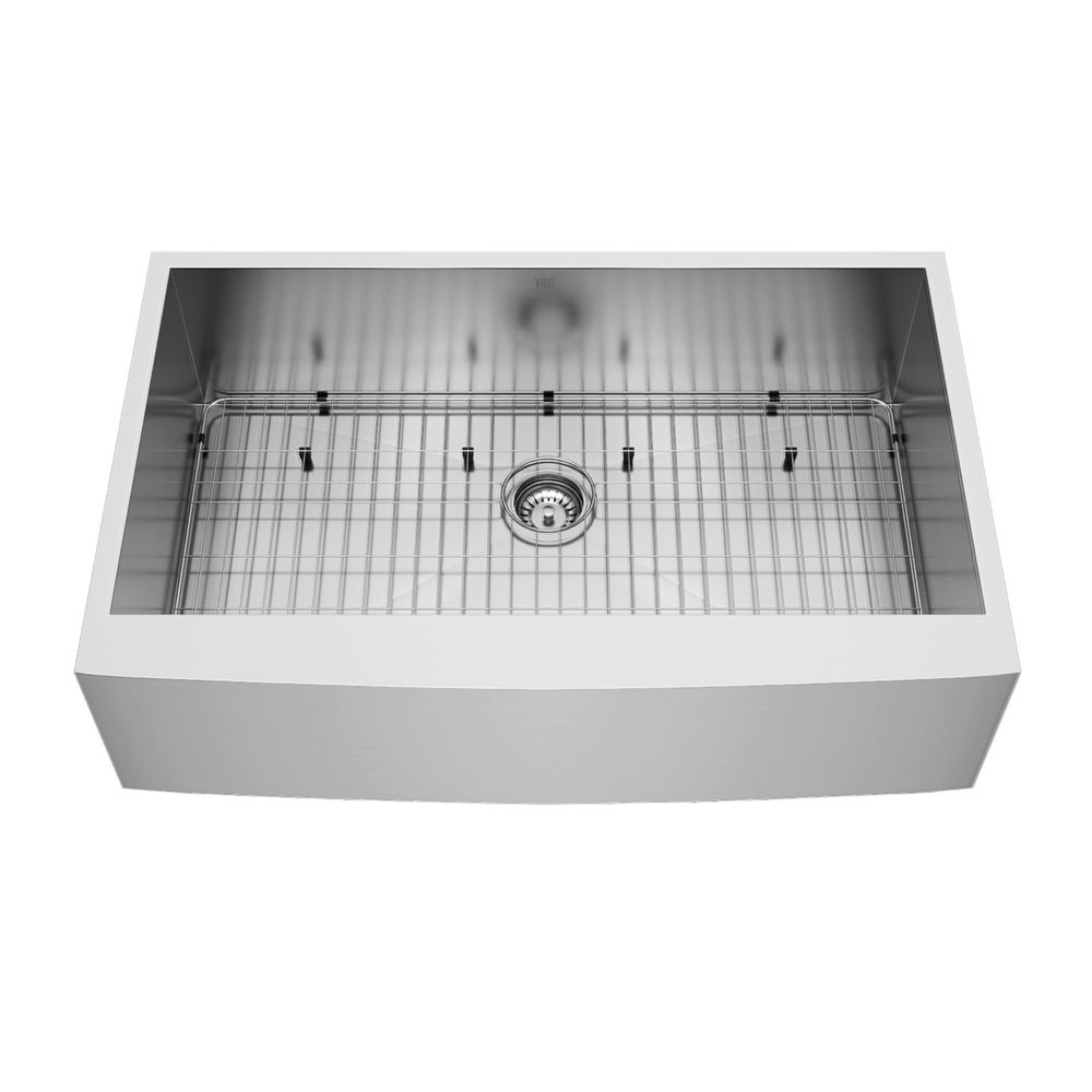 Stainless Steel Farmhouse Kitchen Sink Grid and Strainer 16 gauge 36 Inch