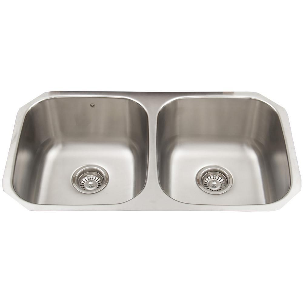 stainless steel kitchen sinks undermount 18 gauge vigo stainless steel undermount bowl kitchen sink 9782