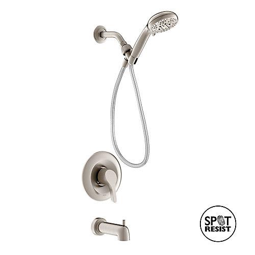Danika - Robinet de douche/baignoire Posi-Temp à 1 poignée, avec douche à main - fini Nickel Brossé