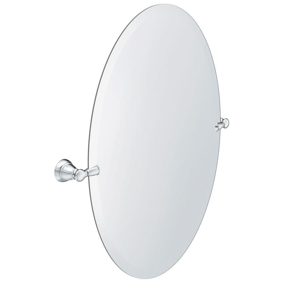 Frameless Pivoting Single Wall Mirror In Chrome