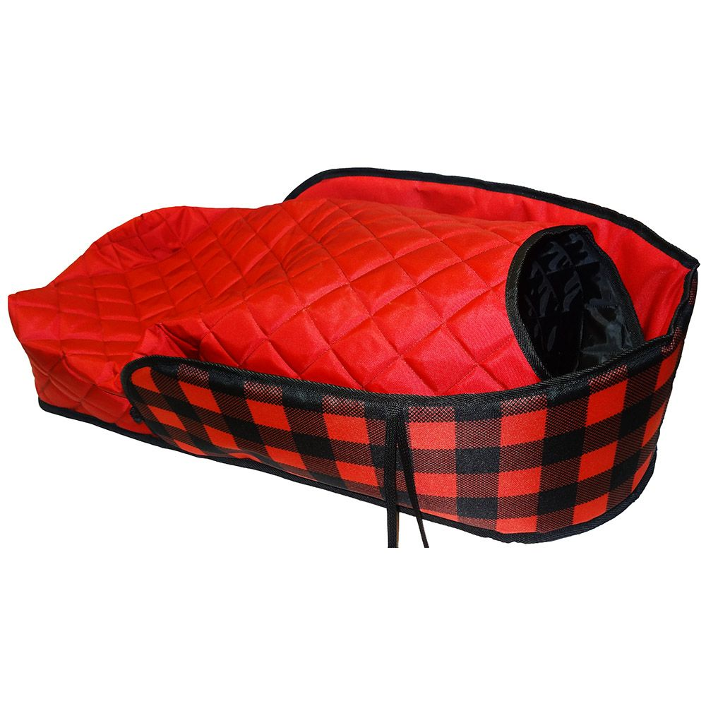 Plaid Sleigh Pad with Bootie