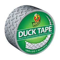 Duck Brand Diamond Plate Printed Duct Tape, 1.88 inch x 10 yds.