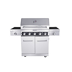KitchenAid 5-Burner Gas BBQ with Side Sear-Burner and Side-Burner
