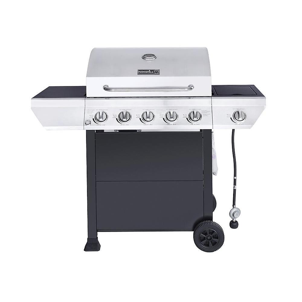 NexGrill 5-Burner Propane BBQ with Side Burner | The Home ...