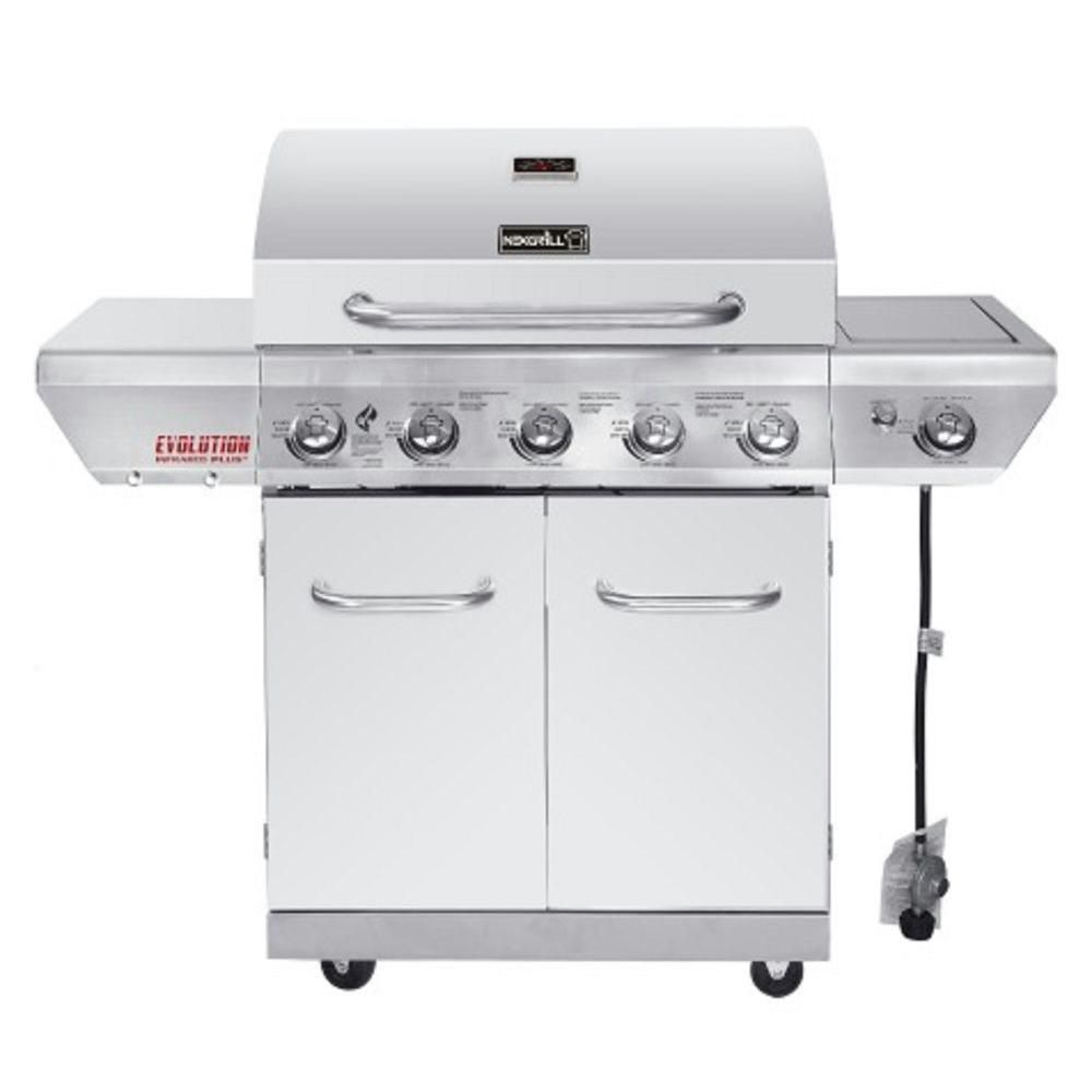 5-Burner Gas BBQ with Evolution Infrared Technology in Stainless Steel