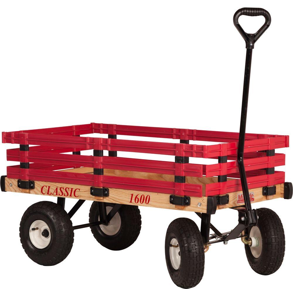 Chariot d'enfant classique à ridelle