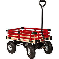 Millside Industries Kids Express Wagon with Removable Red Wood Tracks