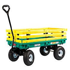 Kids' Trekker 20-inch x 38-inch 500 lb. Capacity Wagon in Green and Yellow