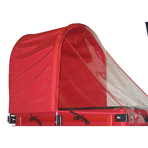 Half Canopy/Weather Shield Combo for 16-inch x 34-inch Wagon
