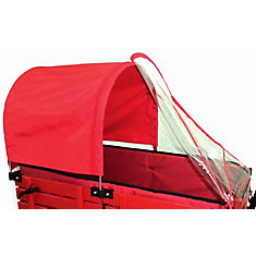 Half Canopy/Weather Shield Combo for 20-inch x 38-inch Wagon