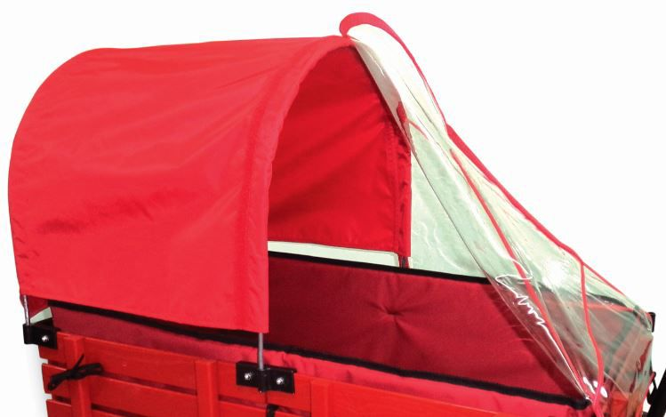 Half Canopy/Weather Shield Combo for 20 Inch x 38 Inch wagon