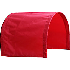 Half Red Wagon Canopy