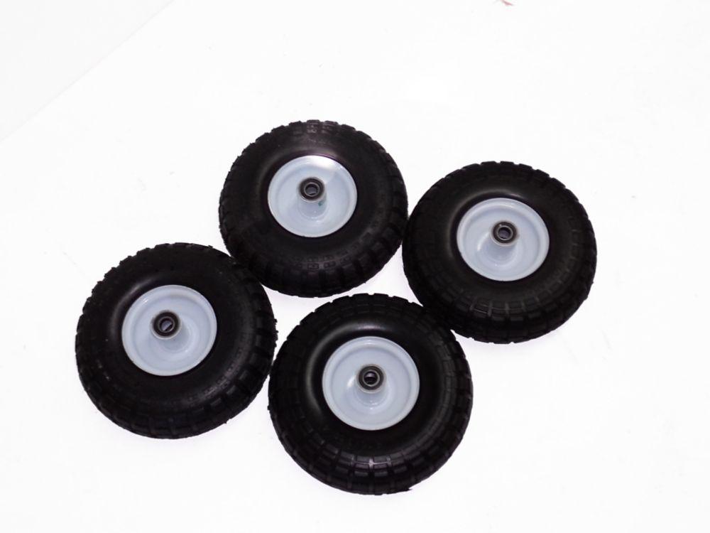 Ensemble de (4 ) 4'' x 10'' roues pneumatiques