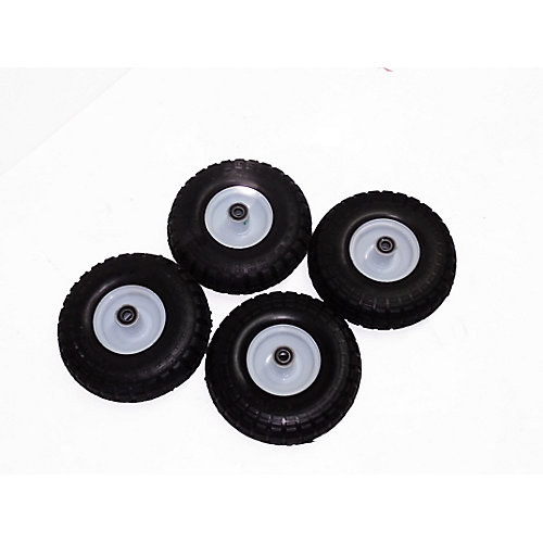 4-inch x 10-inch Pneumatic Wheels (4-Pack)