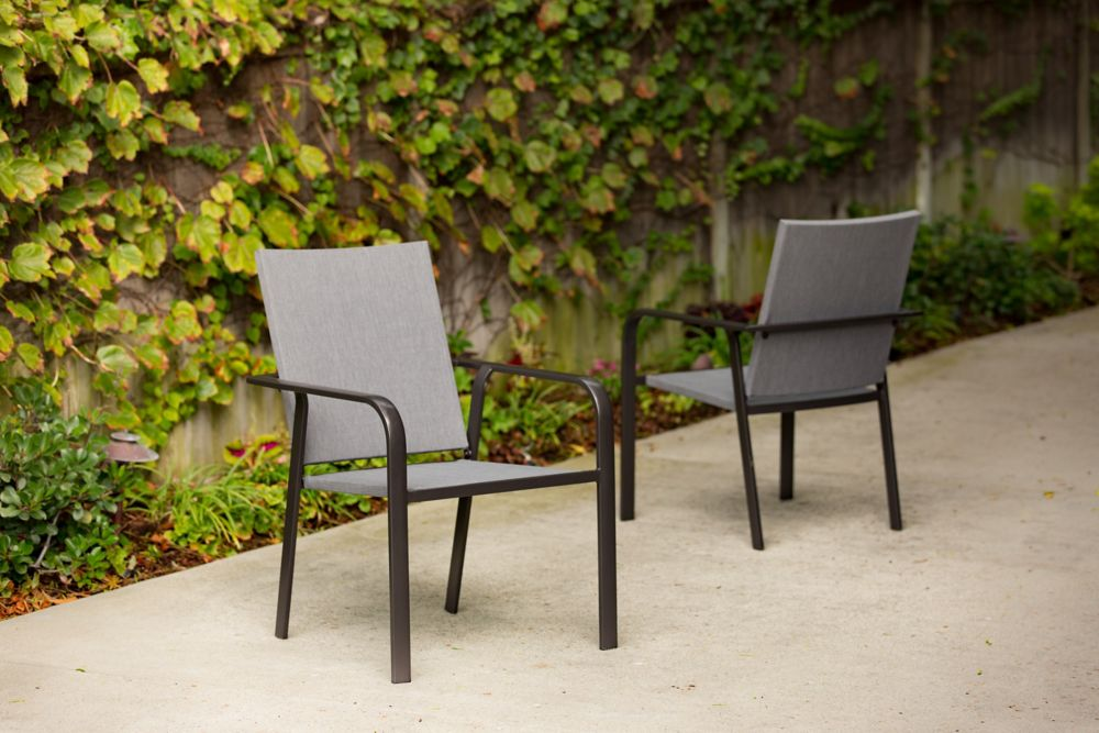 Marble Falls Steel Outdoor Sling Chair (2-Pack)