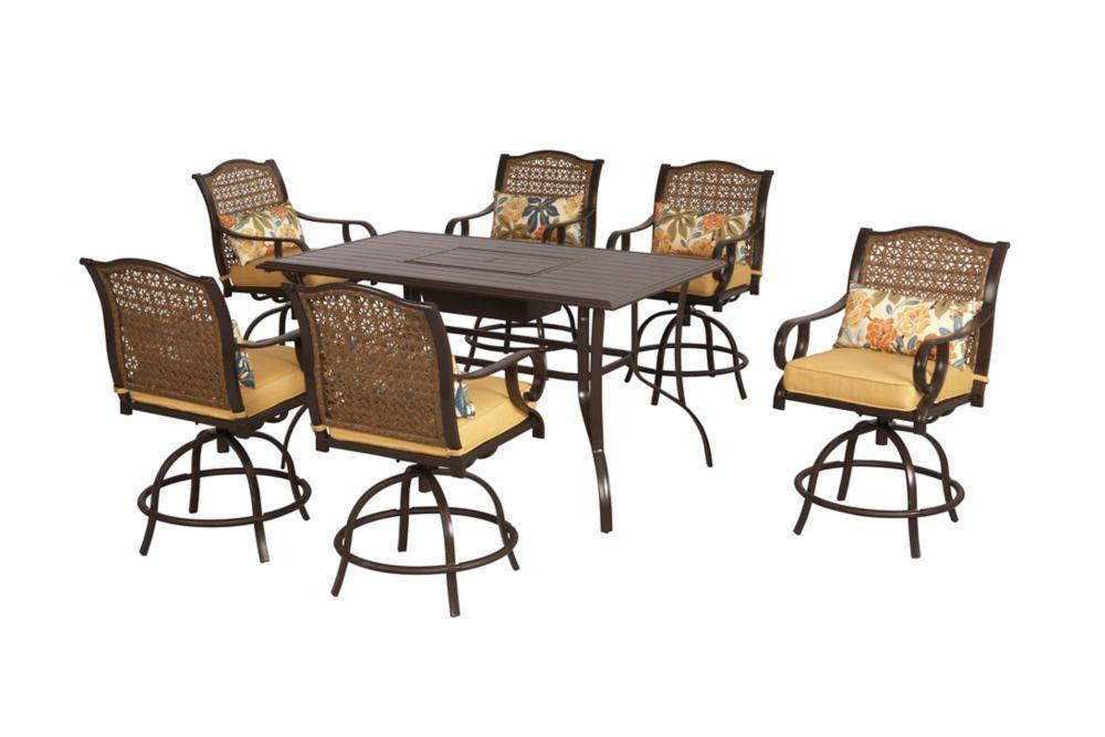 Vichy Springs 7-Piece High Patio Dining Set