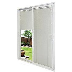 71-1/2-inch x 79 1/2-inch x 5-3/4-inch Jamb Depth Double Sliding PVC Patio Door in White