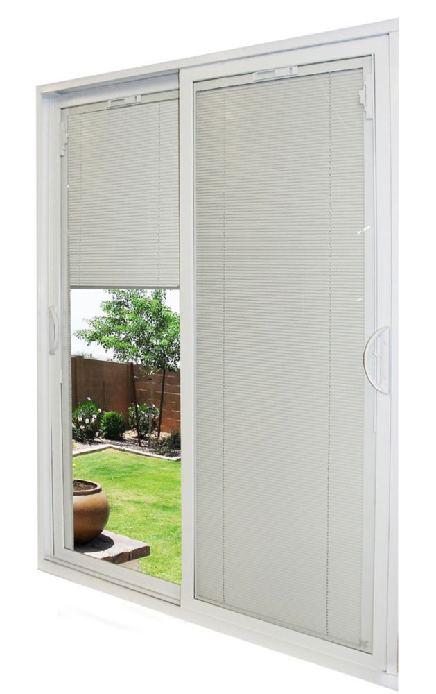 48 Inch Patio Table Cover: Veranda 48-inch White Framed Frosted Sliding Door