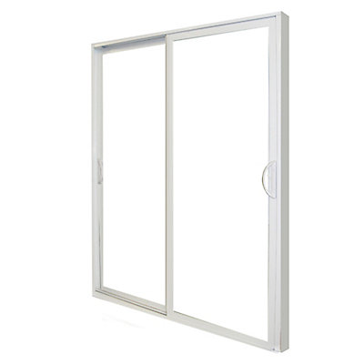 Veranda 5 Ft W Double Sliding Pvc Patio Door The Home Depot Canada