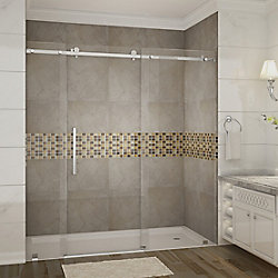 Aston Moselle 72  Inch.  X 75  Inch.  Completely Frameless Sliding Shower Door In Chrome