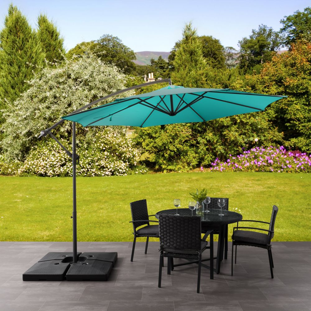 on offset youtube atleisure patio watch umbrella qvc umbrellas multi tilt solar